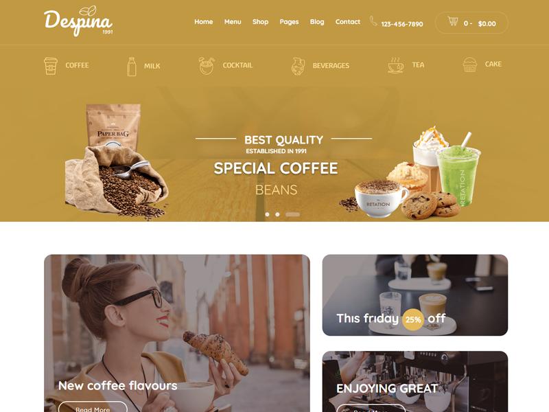 Despina: Coffee Shop Theme