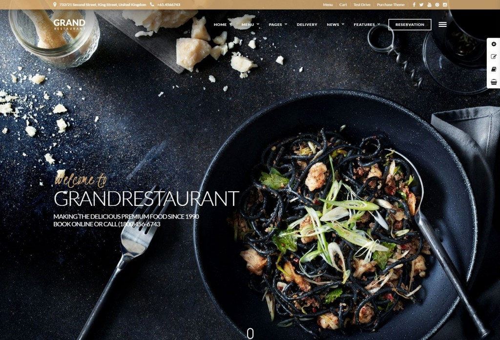 Grand-Restaurant wordpress themes for restaurant
