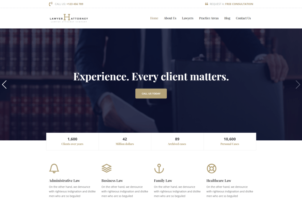 Handel: Best Lawyer WordPress Themes