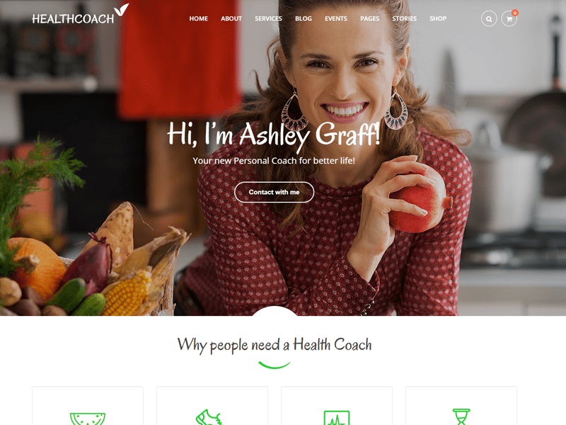 Health-Coach wordpress theme for life coaches