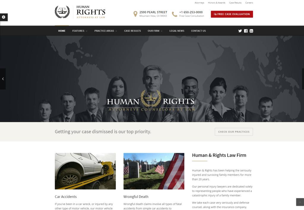 HumanRights law wordpress theme