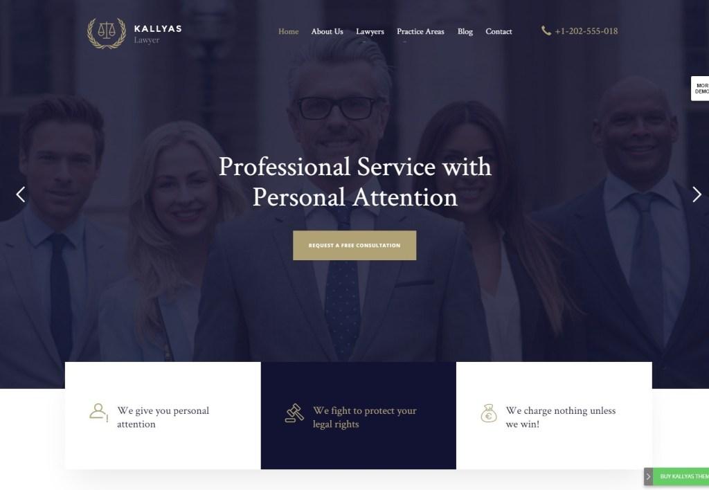 KALLYAS lawyer wordpress theme