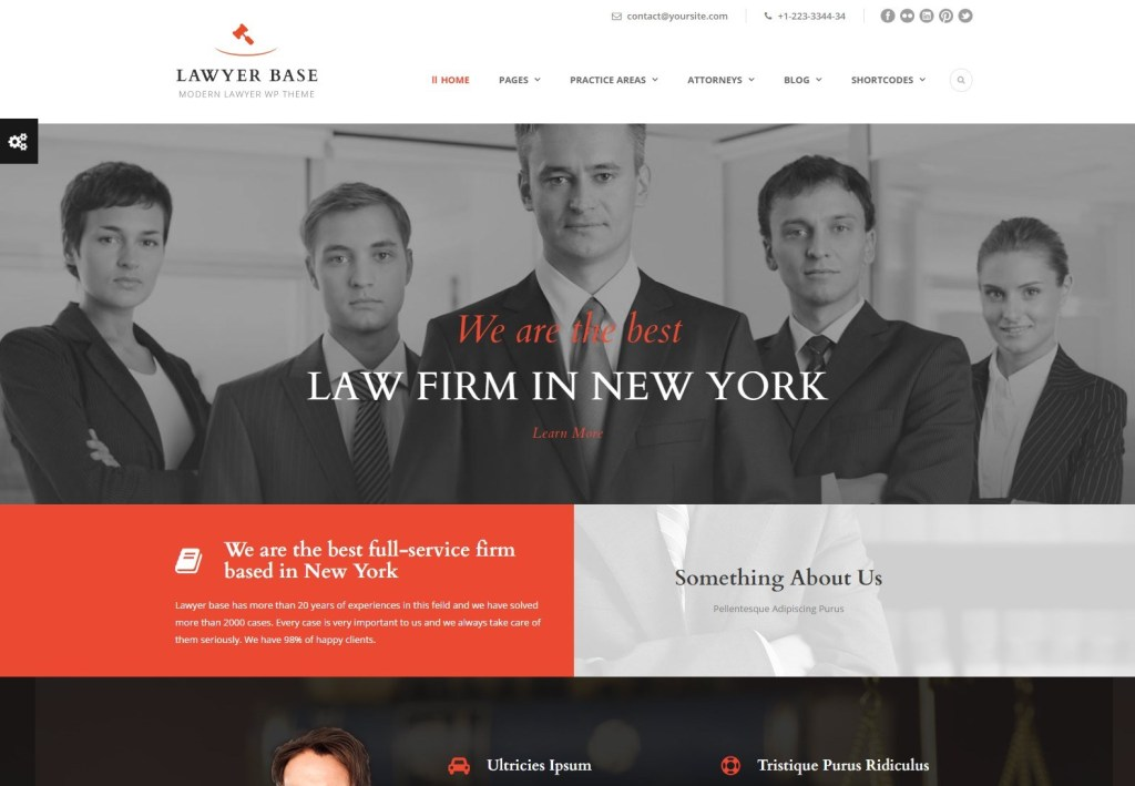 Lawyer base wordpress themes for lawyers