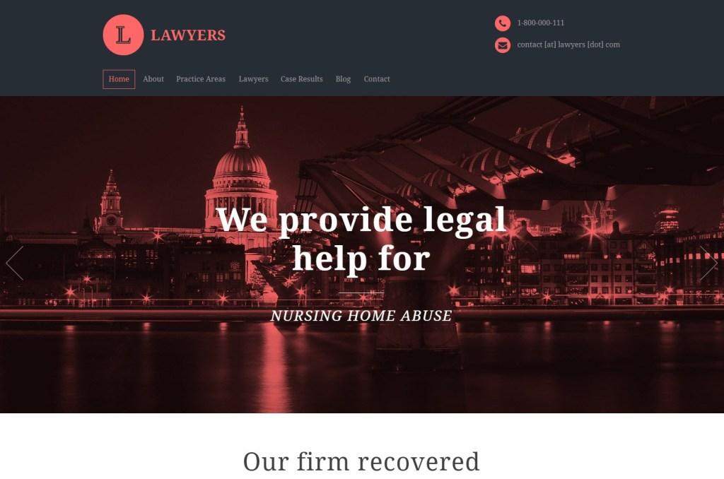 Lawyers attorney wordpress theme