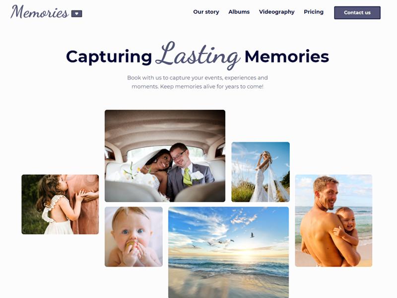 Memories Webflow template