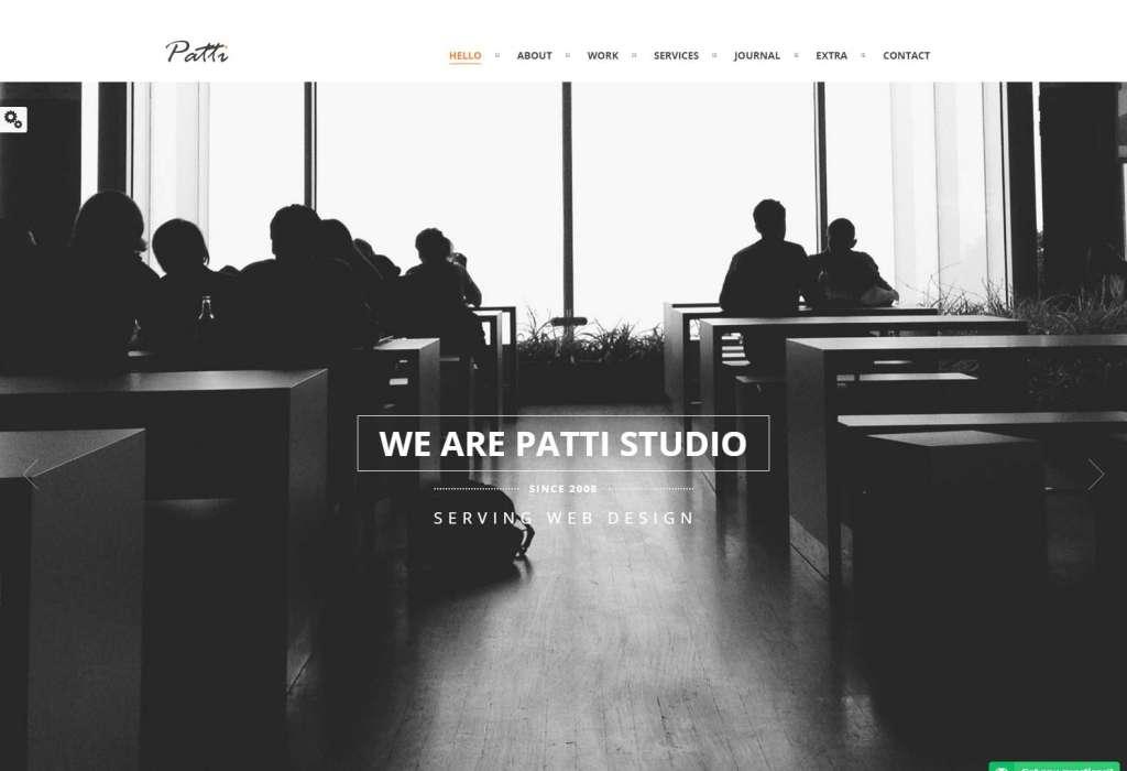 Patti Best Parallax & Portfolio WordPress theme