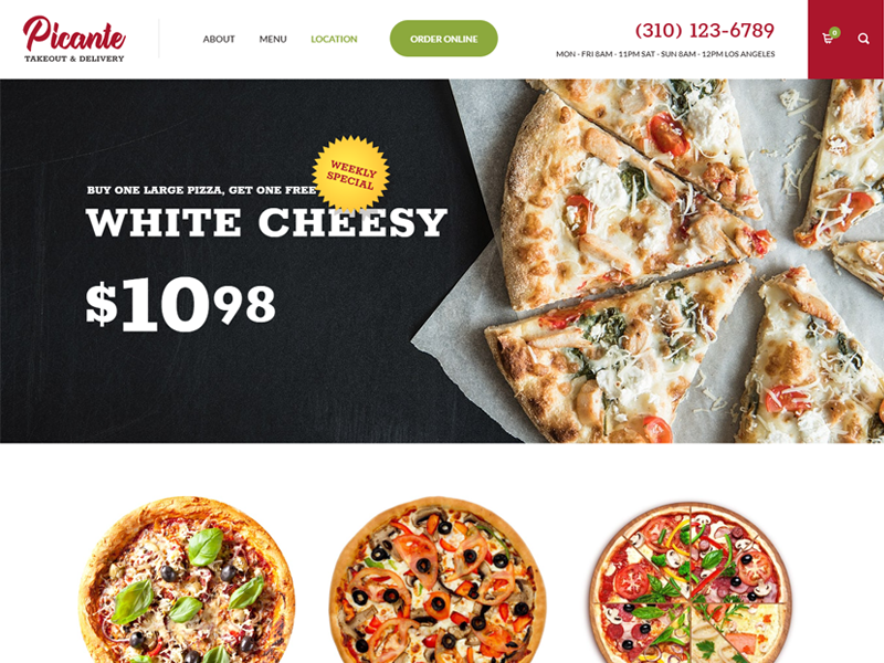 Picante Bakery WordPress Theme