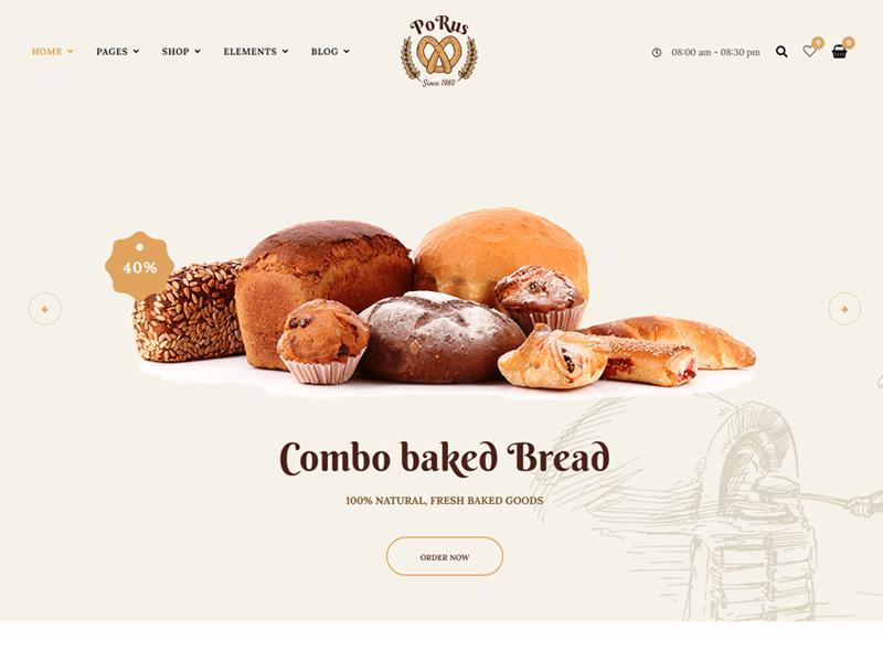 Porus Bakery Theme