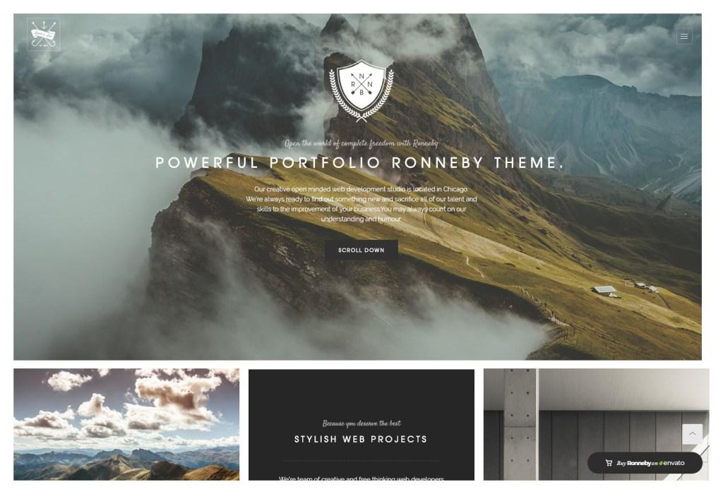 Ronneby parallax wordpress themes