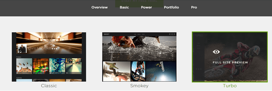 Smugmug Design: best website builders for photographers