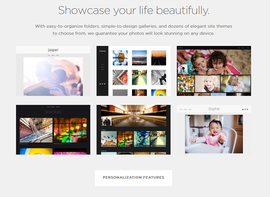 Smugmug Salient features: Best Photography Website Builders