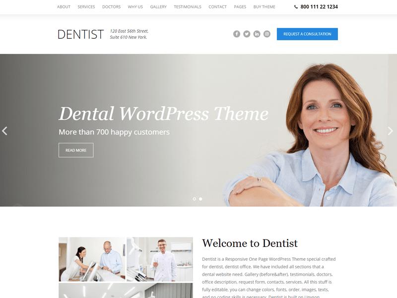 The-Dentist-Theme dental theme