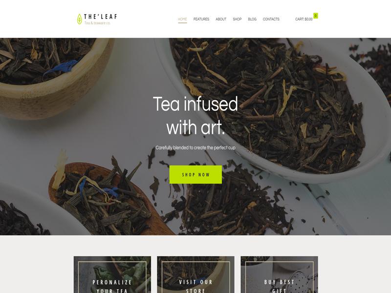 TheLeaf: WordPress Coffee themes