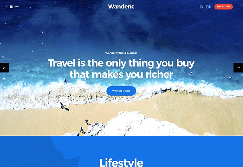 Wanderic: WordPress Travel Blog Theme