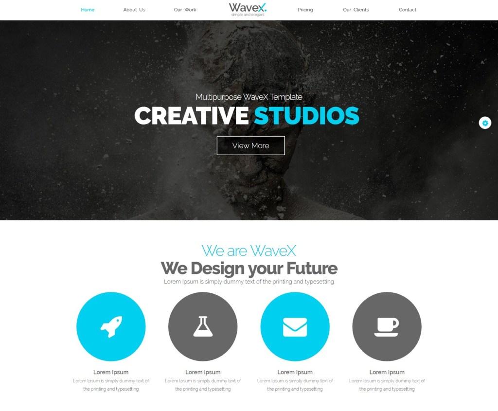 WaveX-best parallax wordpress themes