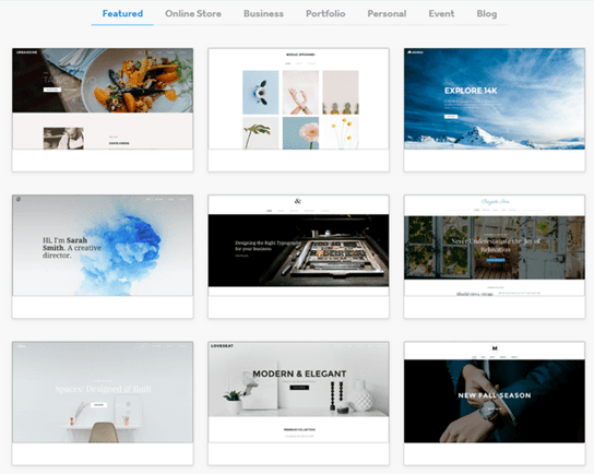 Weebly photography best website builder for photographers