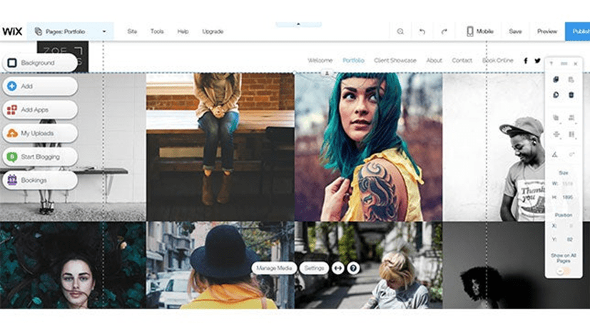 Wix Design 2: photography website builder