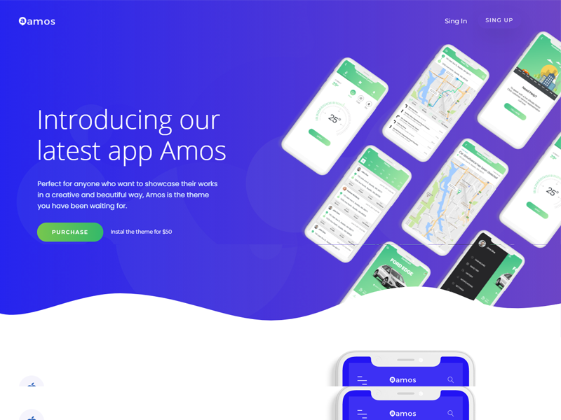 Amos: SaaS WordPress theme