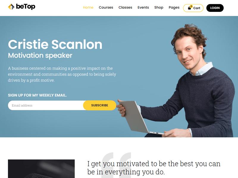 betop wordpress themes for speakers