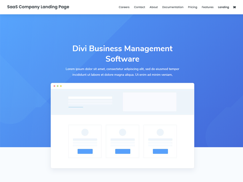 Divi: SaaS WordPress Themes