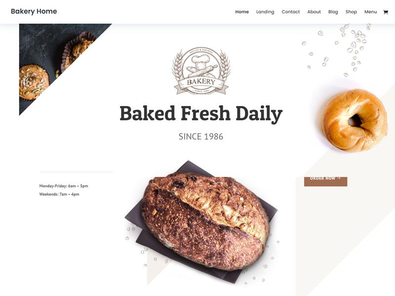 Divi: Best Bakery WordPress Themes