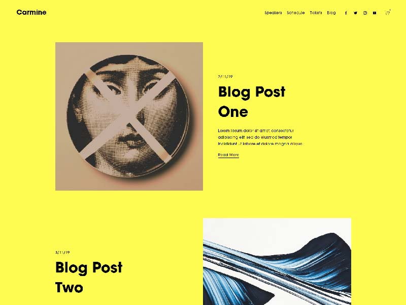 Blog in Squarespace
