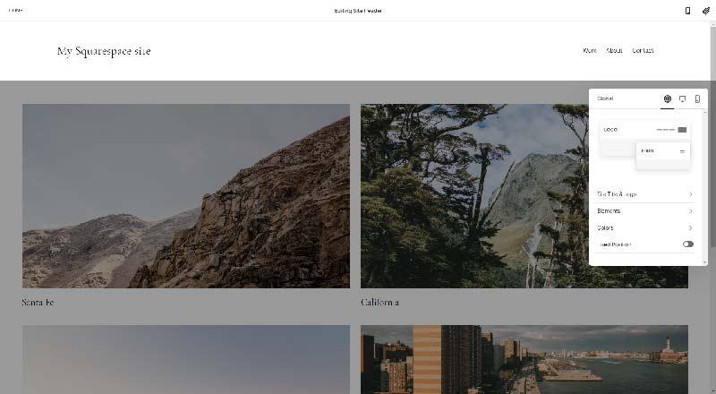 Squarespace page builder
