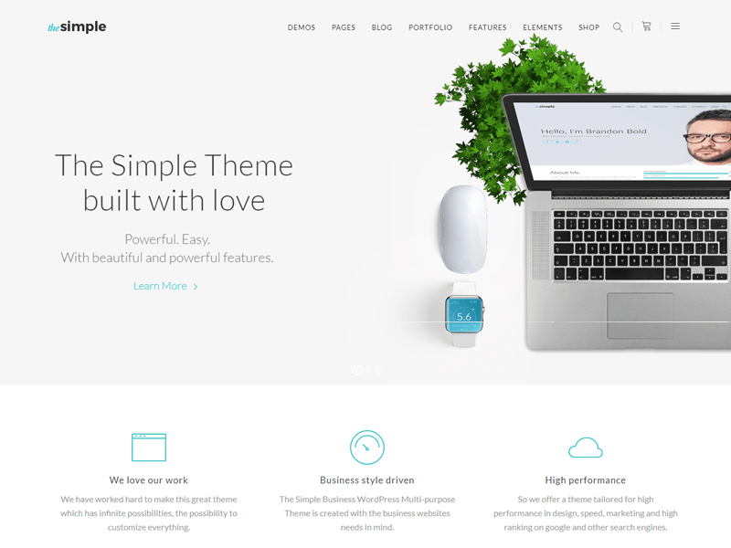the simple theme